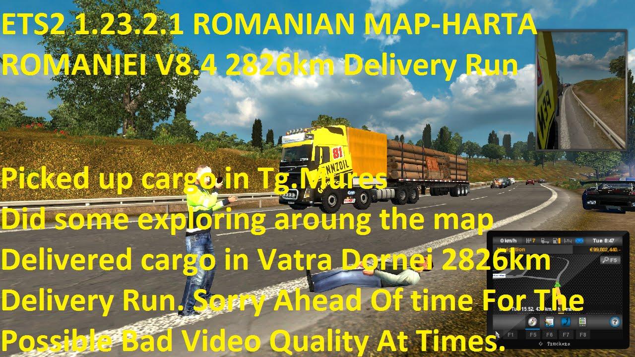 Ets2 1 23 2 1 Romanian Map Harta Romaniei V8 4 2826km Delivery
