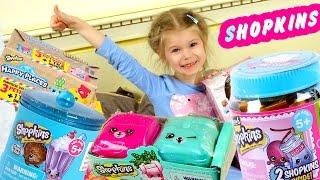 ШОПКИНСЫ російською мовою РОЗПАКУВАННЯ - Подарунки на 8 березня - Іграшки, 6, 5 сезон, Shopkins Happy Places