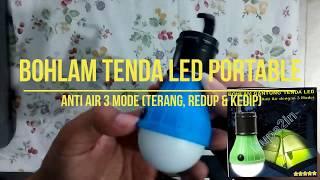 GADGET UNIK - Bohlam Lampu Gantung Portable LED Anti Air 3 Mode Tenda Camping Dimmable