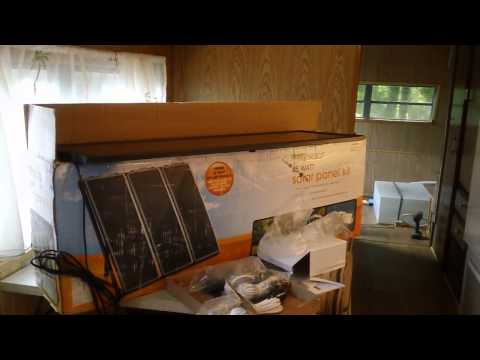 Harbor Freight solar panel kit for coachman travel trailer