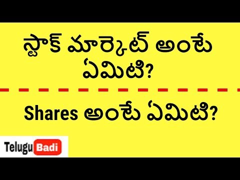 What is Share and Stock Market | Stock markets Theory. Basics for beginners in Telugu. TeluguBadi