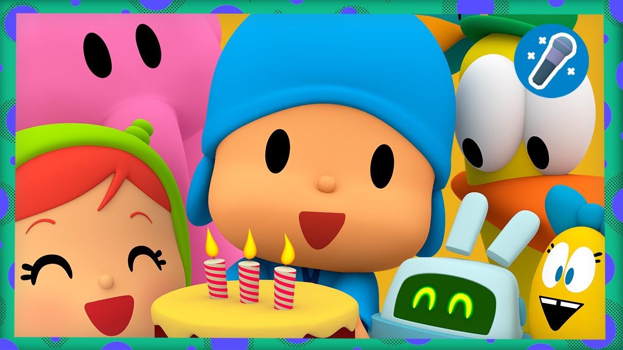 ¡Cumpleaños feliz! 🎂 😀 + KARAOKE 🎤  POCOYÓ | CANCIONES INFANTILES de POCOYÓ