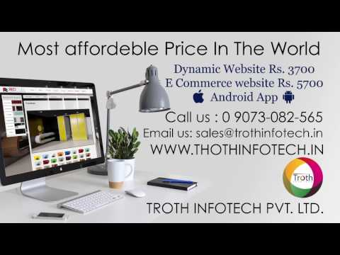 Dynamic website just Rs. 3700 | eCommerce website just Rs. 5700