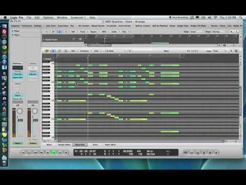 Quantization in Logic Pro 9 - Part 1: Event Based Quantization