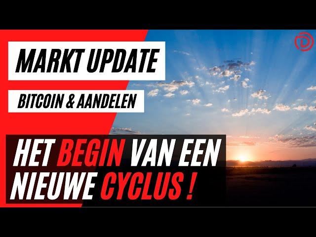 Het Begin Van Een Nieuwe Cyclus ! | Live Koers Update Bitcoin & Aandelen !