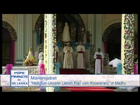 MARIAN PRAYER WITH POPE FRANCIS AT THE SANCTUARY OF OUR LADY OF THE ROSARY- 2015-1-14