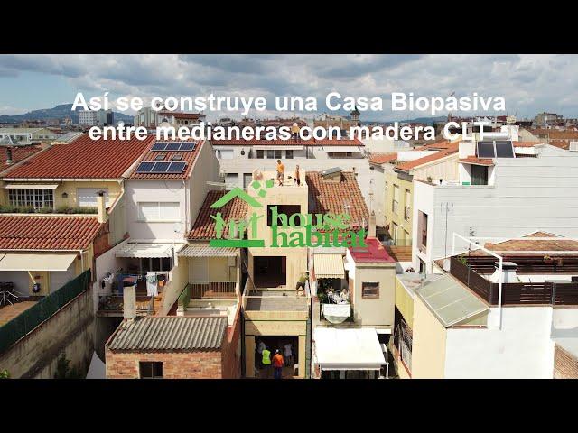 Construcción casa biopasiva entre medianeras con madera CLT