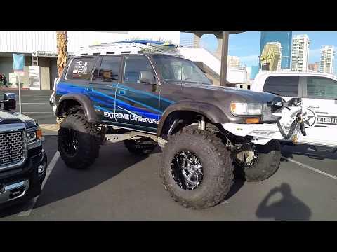 877-544-8473 20x14 Fuel Maverick D260 Black Machined Rims Toyota Landcruiser Sema Show