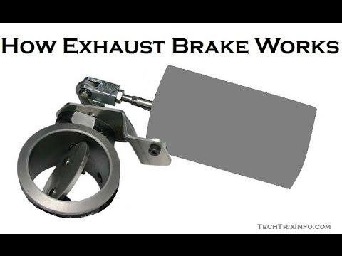 How exhaust brake works – Basics.