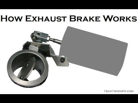 How exhaust brake works \u2013 Basics - YouTube