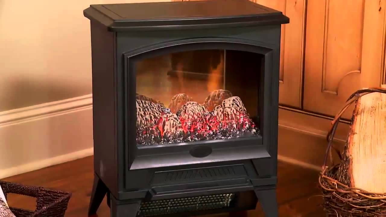 Dimplex Compact Freestanding Electric Stove Youtube