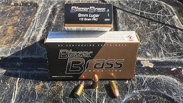 Shooting/Review Blazer Brass 9mm Luger 115 FMJ