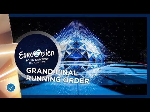 RECAP - Grand Final - Running Order - Eurovision 2019