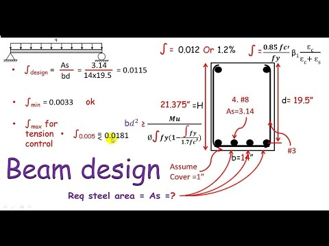 RCD:- Beam design / design of single reinforced concrete beam section