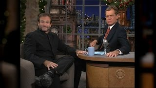 David Letterman Gets Emotional Remembering Robin Williams
