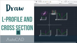 SW-DTM: How To Draw L profile and X section in AutoCAD