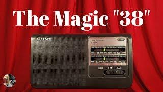 Sony ICF-38 AM FM Portable Radio Review