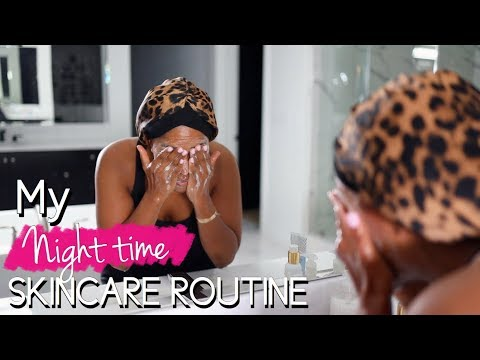 MY NIGHT TIME SKINCARE ROUTINE | MAKEUPSHAYLA thumbnail