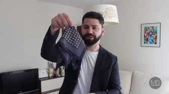 Как да носим кърпичка за сако?