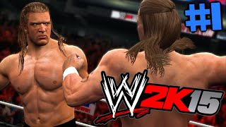 WWE 2K15 SHOWCASE : Let's play #1 [FACECAM] - Triple H vs. Shawn Michaels !! HD