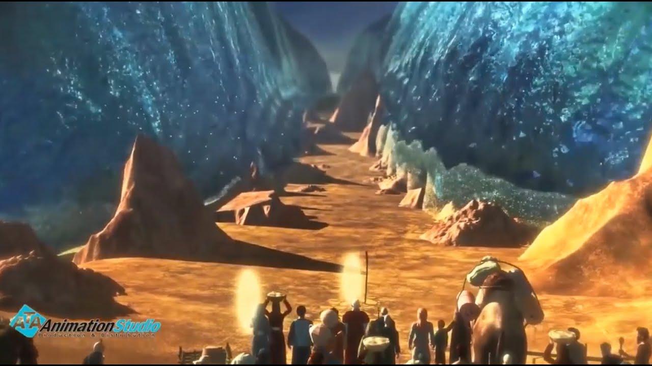 معجزة سيدنا موسي عندما ضرب بعصاة البحر