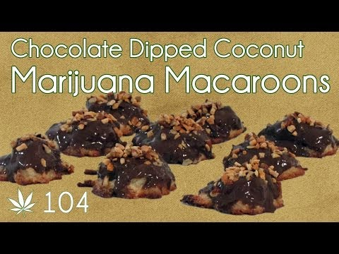 Coconut Macaroon with Cannabis Chocolate Cooking with Marijuana #104 Medicated Macaroons