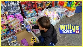 Lots of Cool TOYS at the SWAP MEET - Robot Police Car Transformers + More
