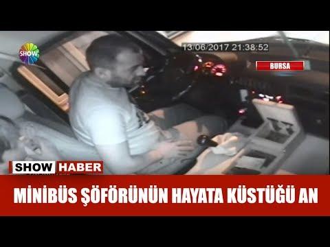 Minibüs şoförünün hayata küstüğü an!