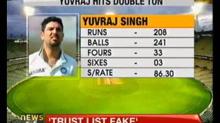 Yuvraj scores double ton in Duleep trophy - NewsX