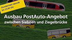 PostAuto: Halbstundentakt ab Siebnen und Ziegelbrücke