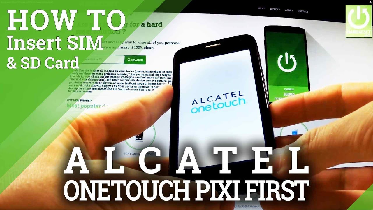 How to Insert SIM and SD Card in ALCATEL One Touch Pixi First 4024D