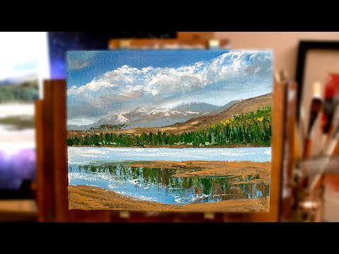 Paint with me! Expressive Landscapes with oils (Using palette knife & brush)