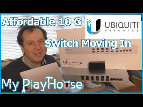 The Ubiquiti UniFi 16 XG Switch and a older UniFi AP AC - 650