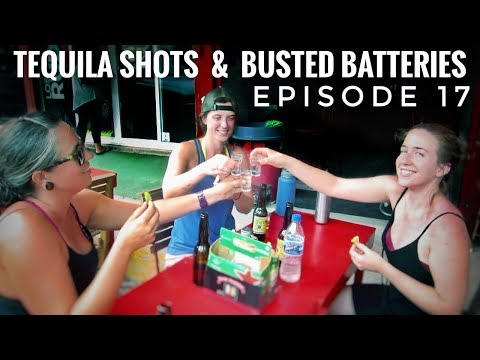 RV Park Beach Party and New Solar Battery in Mexico TRAVEL VLOG Ep. 17