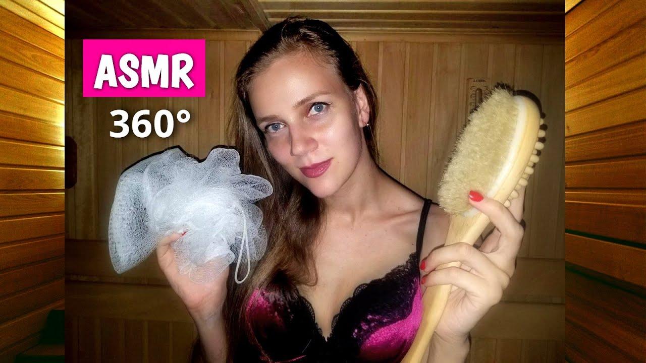 АСМР 360° - Отдыхаем в бане 😅 100% эффект присутствия, персональное внимание, забота и близкий шёпот