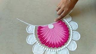 Easy and unique freehand rangoli design