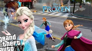 GTA 4 Disney Frozen Mod - Elsa vs Anna