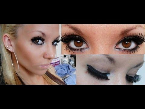 how to put fake eyelashes on youtube