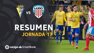 Resumen de Cádiz CF vs CD Lugo (2-1)