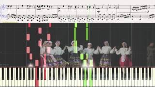 Смуглянка  (Ноты и Видеоурок для фортепиано) (piano cover)