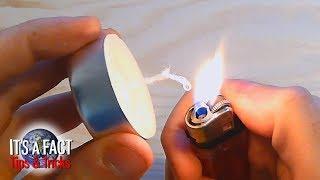 كيفية جعل شمعة فتيلة من القطن (كيفية جعل الفتيل من عصا لتنظيف الأذنين)