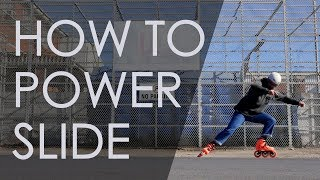 INLINE SKATING TUTORIAL - HOW TO POWERSLIDE ON INLINE SKATES  // VLOG 150