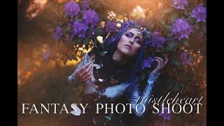 Behind the scenes on  fantasy photo shoot: Thistleheart - with Sabrina Nielsen Photography