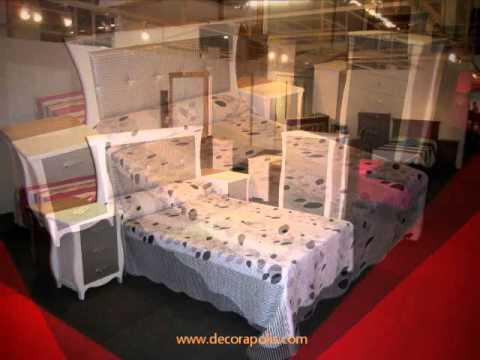 Dormitorios en Pino Macizo, Estilo Provenzal. Feria del Mueble ...