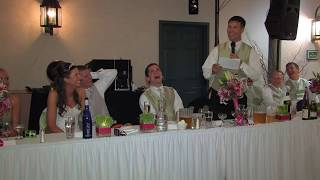Funny wedding toast by Jeremy (Brother of the bride) at Amanda and Jim's wedding.