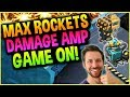 YES MAXED ROCKETS AND THE DAMAGE AMPLIFIER LIVE! -  BOOM BEACH WARSHIPS