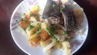 Терпуг с картошечкой в духовке. Супер вкусная рыба. Вкуснятина на ужин