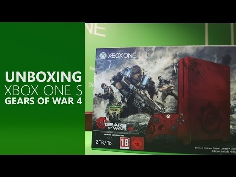 Unboxing Xbox One S 2TB: Gears of War 4