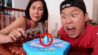 IMPOSSIBLE ICE BREAKER CHALLENGE WITH MY MOM!!! (FIRST ONE TO DROP THE PENGUIN LOSES)