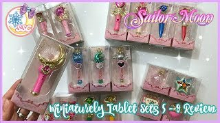 Sailor Moon Miniaturely Tablet Sets 5 - 9 Review ~ セーラームーン